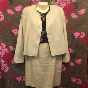Calvin Klein Tan Two Piece Skirt Suit